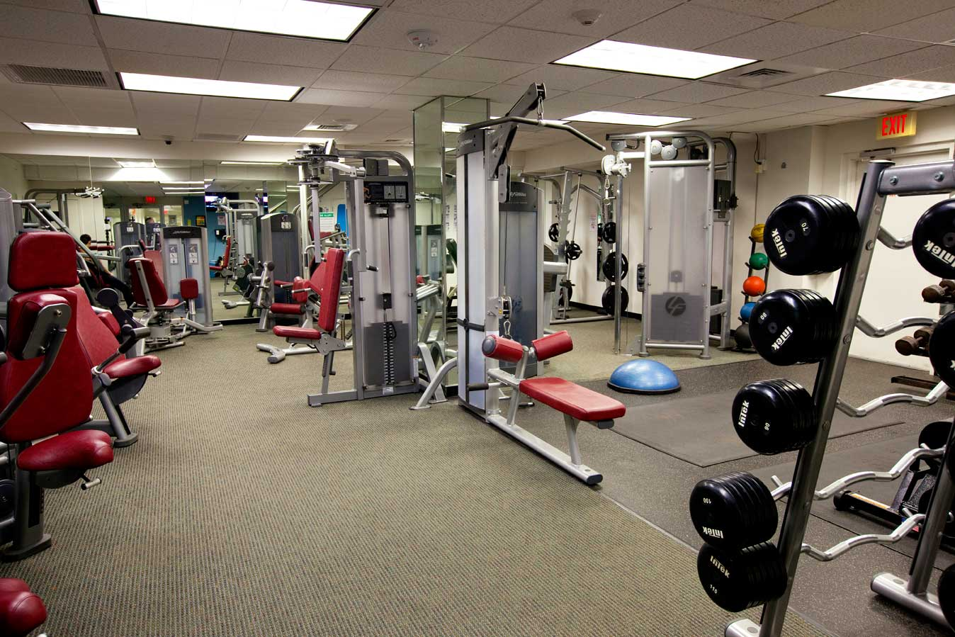 Exercise room brookhouse condominium